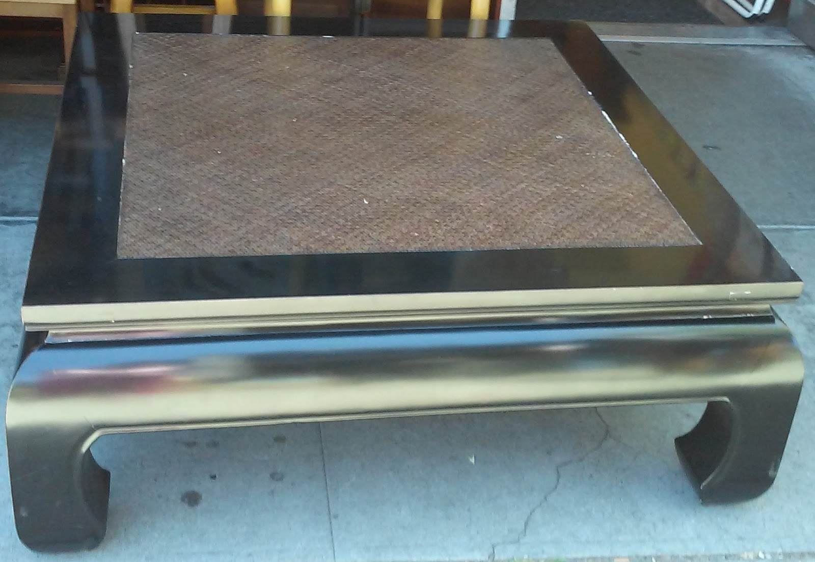 UHURU FURNITURE COLLECTIBLES SOLD BARGAIN BUY Square - Chow coffee table