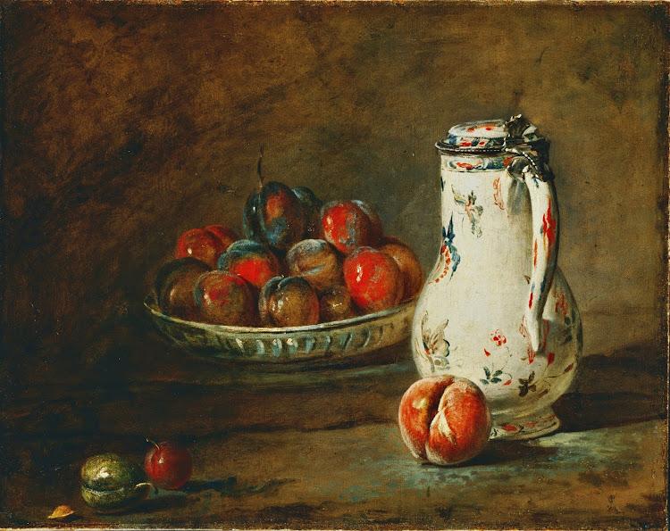Jean-Baptiste Simeon Chardin - A Bowl of Plums (c.1728)