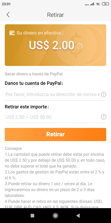 cobrar a paypal