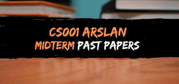 cs001 arslan