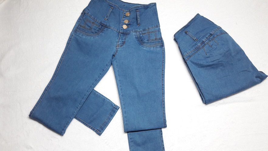 Modelo # 17 Pantalon Azul Claro, Pretina Alta