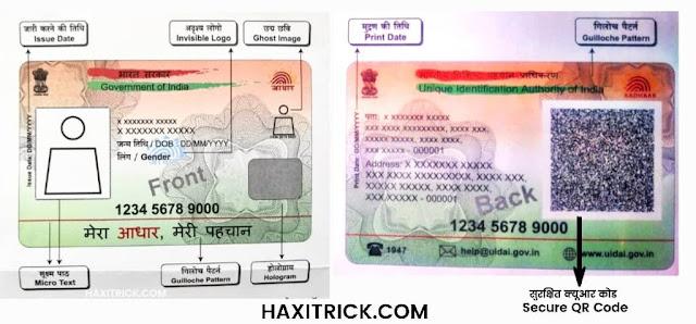 PVC Aadhaar Features Photo