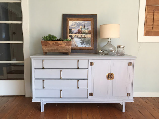 Mid-century Modern Credenza painted Paris Grey