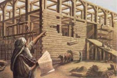 Noah Builds the Ark as God Commands