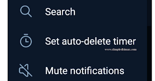 Set Auto Delete Timer ( https://www.dimpledhiman.com/2021/02/telegram-timer-set-feature.html)