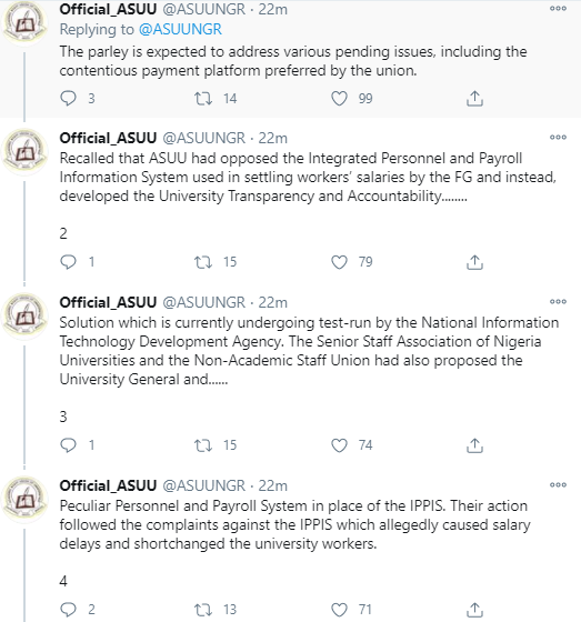 Notice On Suspension Of Indefinite Strike A Fake News, FG To Restart Dialogue  - ASUU
