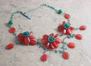 Brown floral necklace by Butler & Wilson
