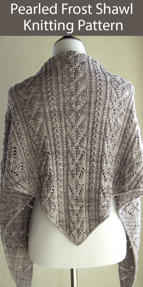 Pearled Frost Shawl - Knitting Pattern