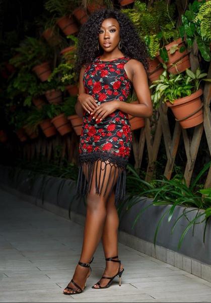 Beverly Naya is stunning in fringe mini dress