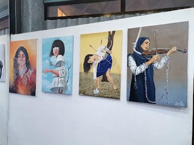 مؤسسة سومر الفنية في البصرة تنظم معرضا فنيا حول مشاركة المرأة في الحياة السياسية والمدنية حق من حقوقها