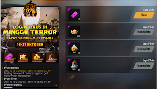 Event Fear Fire Halloween FF Free fire berhadiah Token Bat Lollipop