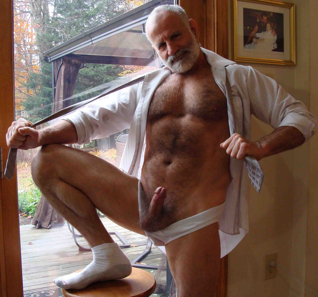 Grandpa with huge cock