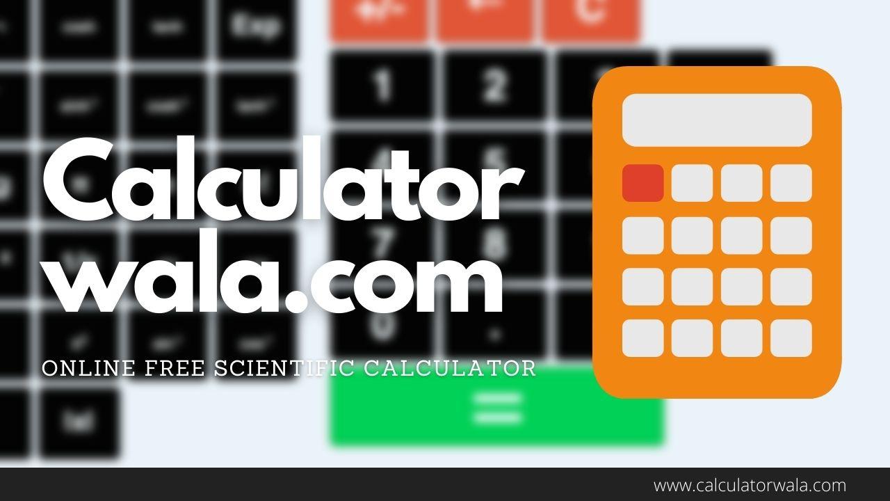 Online FREE Scientific Calculator