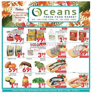 Oceans Canada Flyer October 6 - 12, 2017