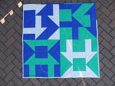 modern baby quilt solids quilt