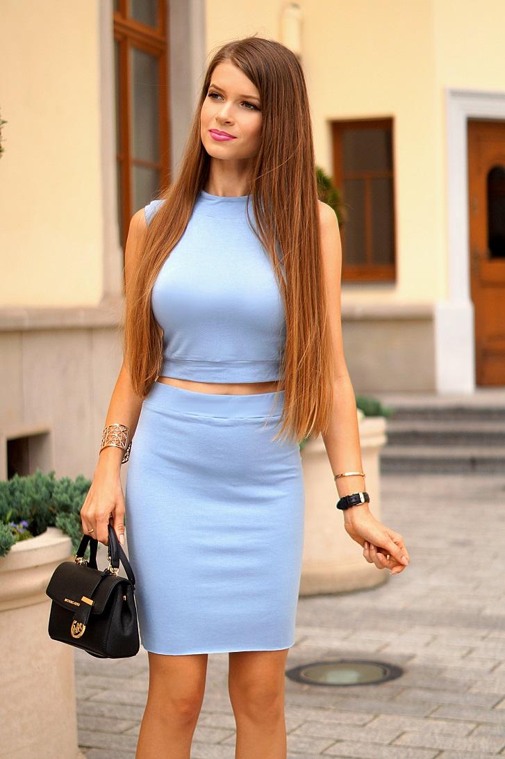 Only My Fashion Style Niebieski Komplet