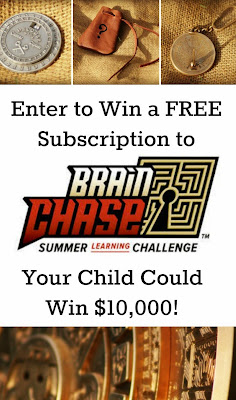 Enter to win a Free Subscription to Brain Chase - Your child could win $10,000! Ends May 16th.