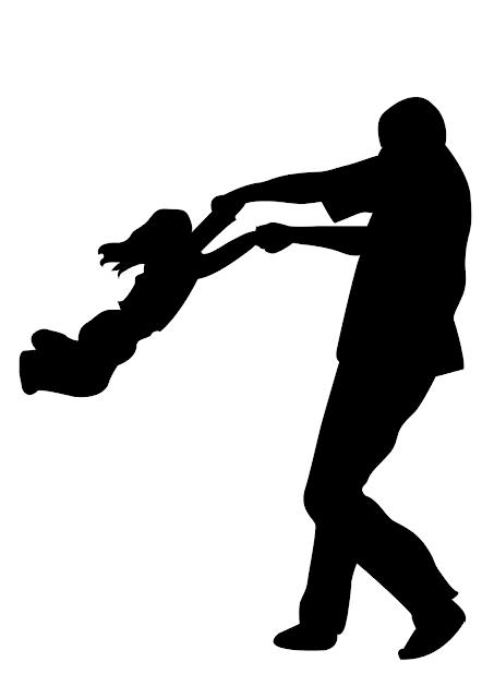 Modelo de Mural para dia dos pais com silhuetas para baixar