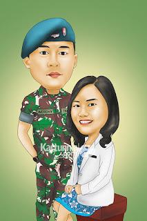 Karikatur TNI Romantis
