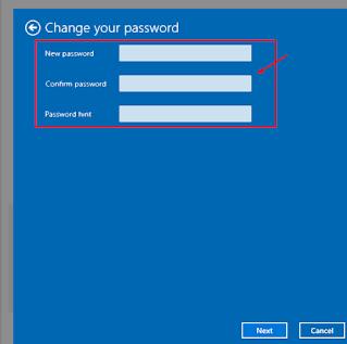 kosongkan kolom change your pasword untuk menghapus sandi windows 10