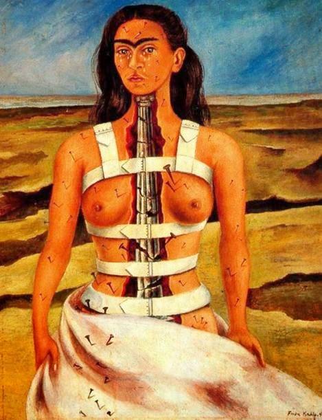 Coluna Partida - Frida Kahlo e suas pinturas ~ Pintora comunista e revolucionária