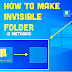 How To Create an Invisible Folder On Windows/PC