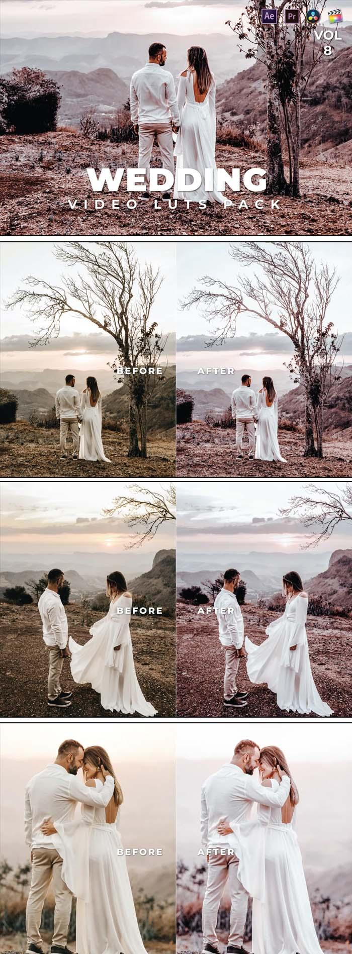 Wedding Pack Video LUTs Vol.8