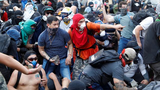 Chile cumple un mes de protestas: 6.300 detenidos y 346 acciones judiciales
