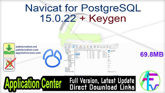 Navicat for PostgreSQL 15.0.22 + Keygen