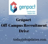 Genpact Off-Campus Recruitment Drive