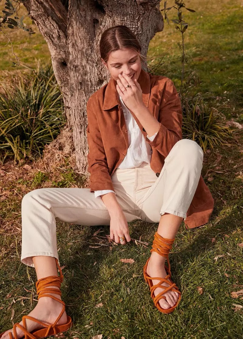 Luna Bijl embraces spring trends in Mango Romantic Vibe editorial