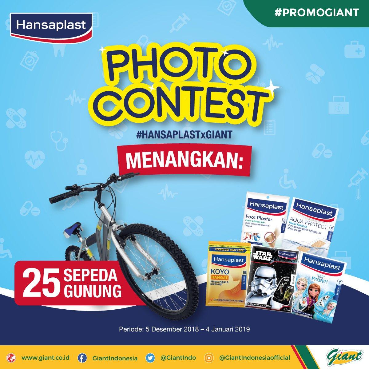 Giant - Promo Dapatkan 25 Sepeda Gunung di Photo Contest Hansaplast