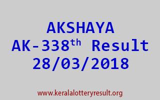 AKSHAYA Lottery AK 338 Results 28-03-2018