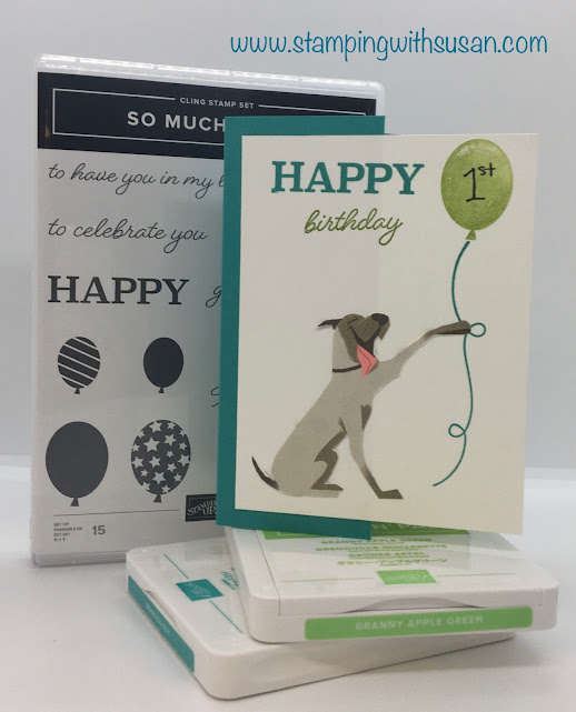 Stampin' Up!, So Much Happy, Playful Pets DSP, www.stampingwithsusan.com, Birthday,
