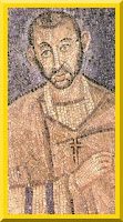 Early mosaic of Saint Ambrose that might be an actual portrait.