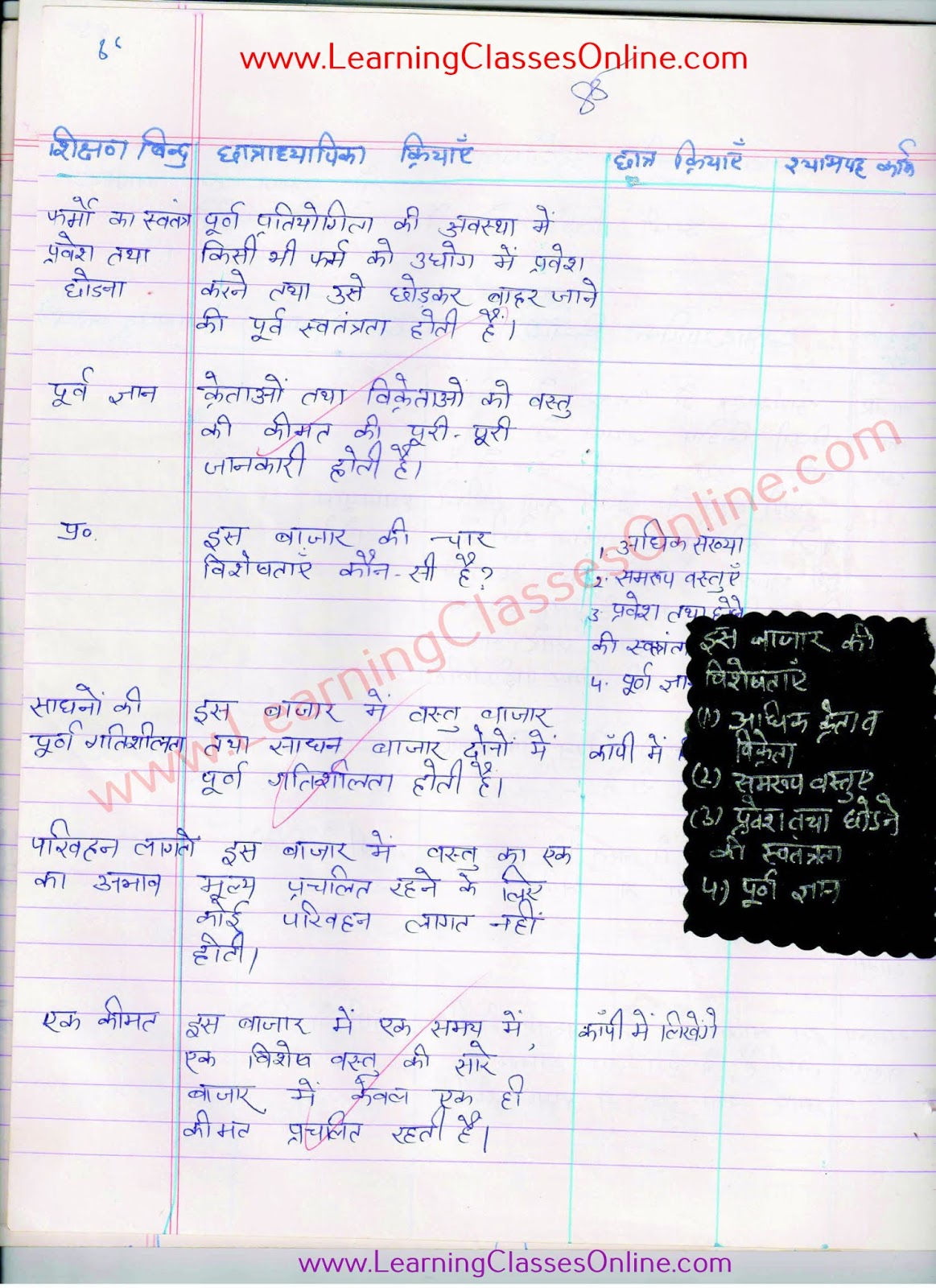 cbse ncert  economics lesson plan for teachers in hindi for class 10 th
