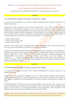 resolution for reclassification of promoters