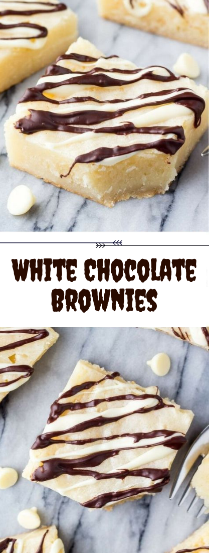 White Chocolate Brownies #dessert #cheesecake