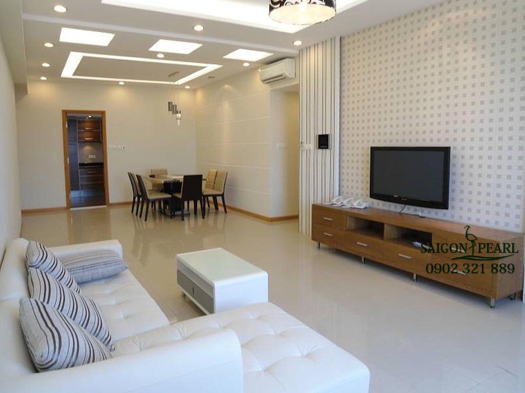 Saigon Pearl Shaphire 1 cho thuê căn hộ 90m2 view trung tâm thành phố