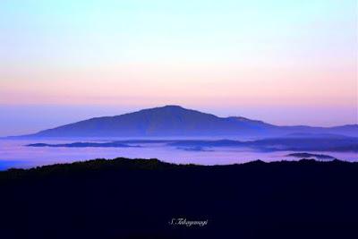 星の村 天文台の早朝の景色