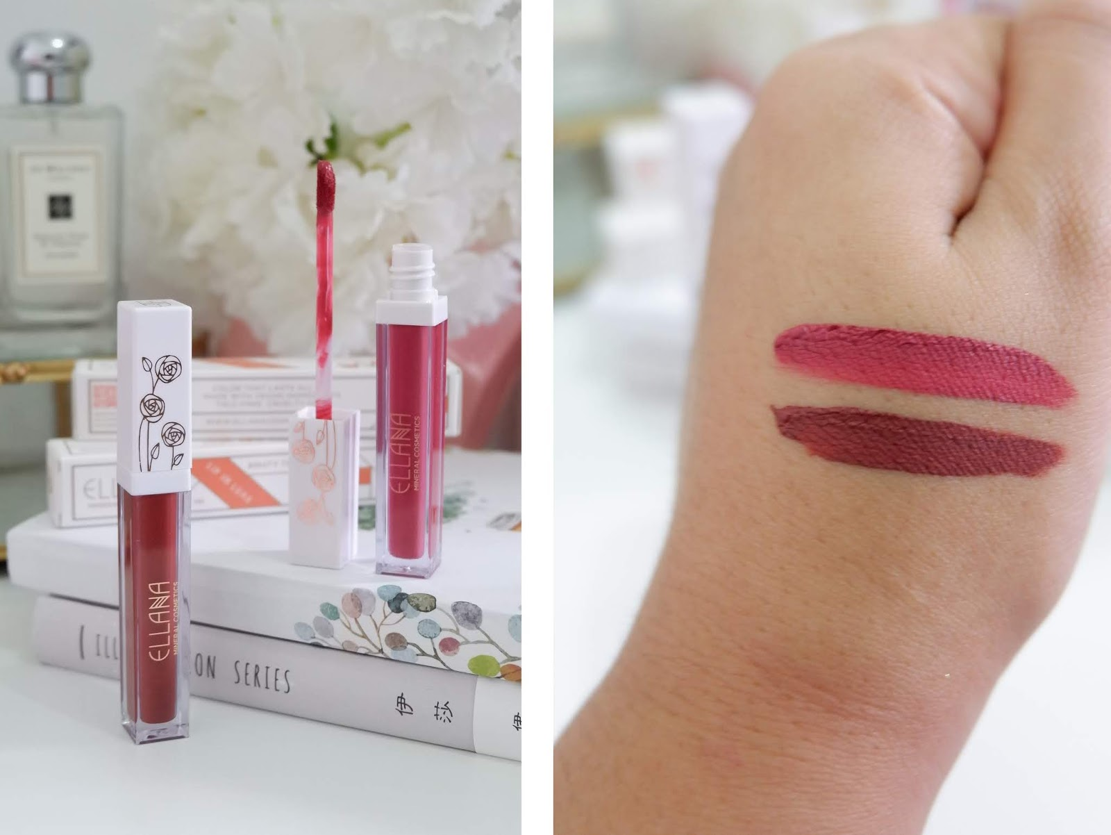 ELLANA COSMETICS: LIP IN LUXE LIQUID LIPSTICKS REVIEW