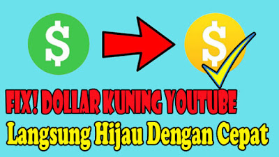 Cara, Mengatasi, Dollar, Kuning, Youtube, 2021, Menjadi, Hijau, jadi, tutorial, adsense, channel, yutub, tanda, garis, arti, maksud,