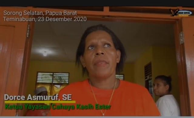 Sorong Selatan : Melalui Yayasan Cahaya Kasih Ester ,Program Kemensos  untuk membagikan sembako kepada masyarakat disalurkan
