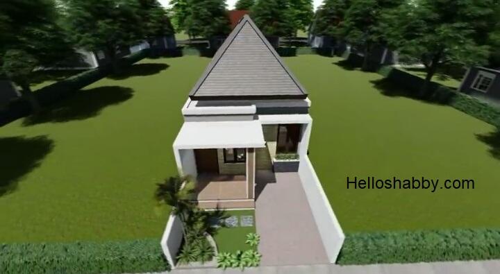 Desain Dan Denah Rumah Minimalis 5 X 15 M Dengan 2 Kamar Tidur Terlihat Lega Dengan Halaman Depan Yang Luas Helloshabby Com Interior And Exterior Solutions