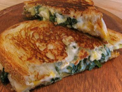 Rita's Recipes: Spinach Artichoke Grilled Cheese
