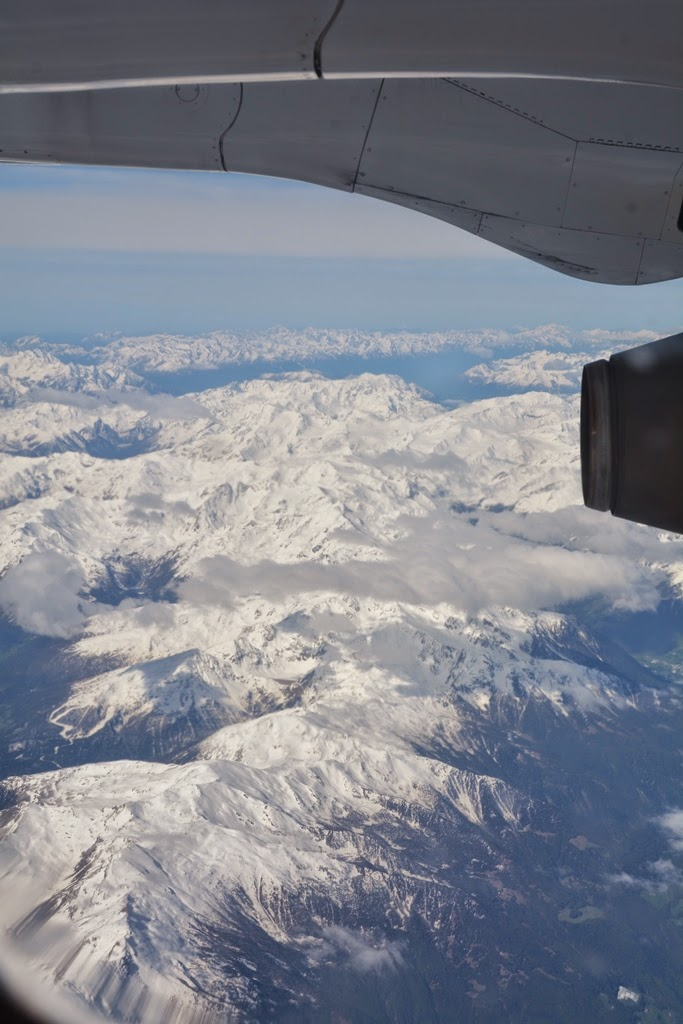 Flight above the Alps