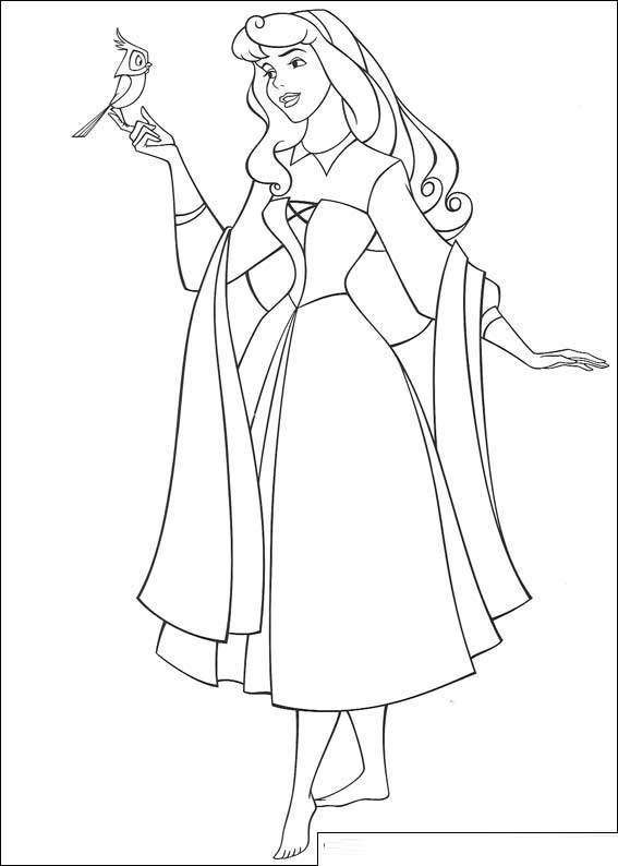 Beauty Princess Aurora Coloring