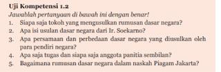 Soal dan Jawaban Uji Kompetensi 1.2 PKN Kelas 7 Halaman 3