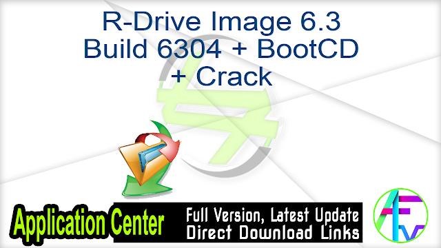 R-Drive Image 6.3 Build 6304 + BootCD + Crack