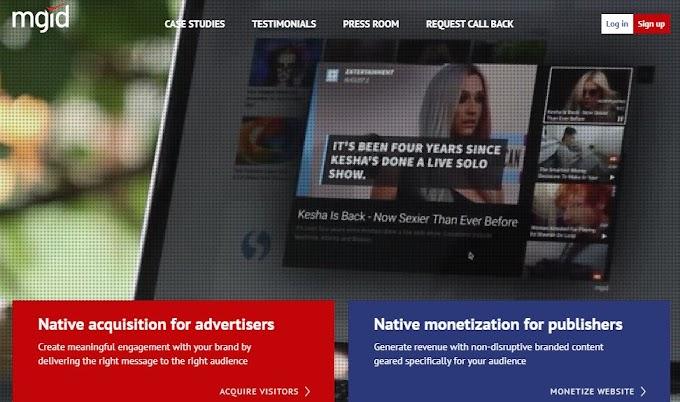 Hướng dẫn kiếm tiền cho trang web với nhà quảng cáo MGID